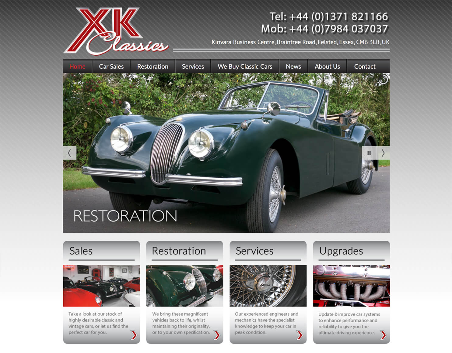 www.xkclassics.uk website